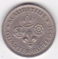 Ile Maurice 1/4 Rupee 1951 George VI. KM# 27 - Mauritius