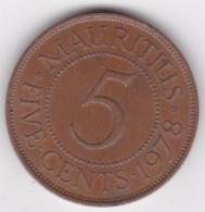 Ile Maurice , 5 Cents 1978 , Elizabeth II, KM# 34 - Mauritius