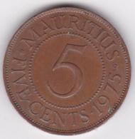 Ile Maurice , 5 Cents 1975 , Elizabeth II, KM# 34 - Mauritius