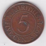 Ile Maurice , 5 Cents 1971 , Elizabeth II, KM# 34 - Mauritius
