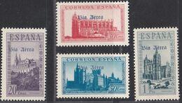 1938. * Edifil: EMISIONES LOCALES PATRIOTICAS BURGOS SH95. Sellos De La Hoja Bloque, Habilitación En Azul - Nationalistische Ausgaben