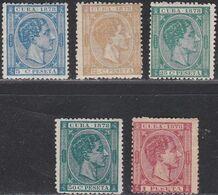 1878. * Edifil: CUBA 44, 46/49 - Cuba (1874-1898)