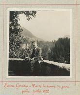 Saint-Gervais-les-Bains (Haute-Savoie). Vue De La Terrasse Du Jardin Public. Juillet 1925. - Places