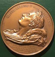 Napoléon Sainte Hélène Poinçon Bronze 1966 Passage à Rouen Des Restes Mortels Signé Depaulis (superbe Conservation) - Royal / Of Nobility