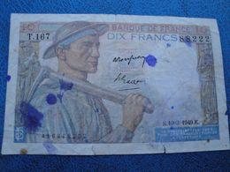 Billet Dix Francs Mineur 1949 - 1871-1952 Anciens Francs Circulés Au XXème