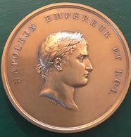 Napoléon Empereur Et Roi - Bataille De La Moskowa Poinçon Bronze (pas De Date) Signé Droz (superbe état De Conservation) - Royal / Of Nobility