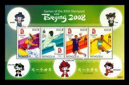 Mongolia 2008 Mih. 3707/10 Olympic Games In Beijing. Canoe. Fencing. Handball. Penthatlon MNH ** - Mongolië