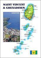 Saint Vincent And The Grenadines Map New Postcard Landkarte AK - St. Vincent Und Die Grenadinen