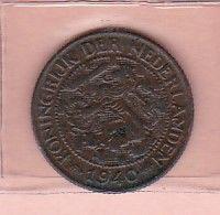 Nederland    1 Cents  1940      Pays-Bas    WILHELMINA - [ 3] 1815-… : Royaume Des Pays-Bas