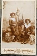 Foto Smitz Verheugen Rond 1890 1900 Eeklo Koloniaal Met 2 Kinderen Van Origine Congo - Eeklo