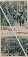 MOERBEKE..1935..DE OUDSTRIJDERS NEMEN EEN NIEUW VAANDEL IN ONTVANGST - Oude Documenten