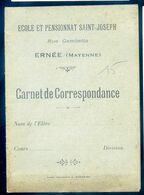 Carnet De Correspondance Ecole Et Pensionnat Saint Joseph à  Ernée      AVR20-76 - Diploma's En Schoolrapporten