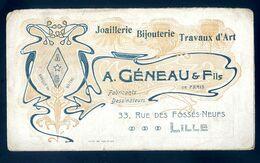 Calendrier Bijouterie Géneau & Fils à Lille 1904      AVR20-76 - Calendars