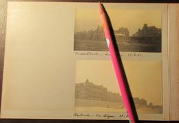Middelkerke En Westende : Twee Originele Foto's Van De Dijk - 1903 - Middelkerke