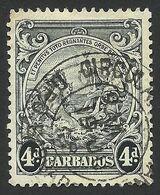 Barbados, 4 P. 1938, Sc # 198, Used. - Barbades (...-1966)