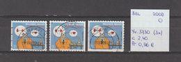 België 2008 - Yv. 3730 (3x) - OCB 3748/a/b Gest./obl./used - Belgium