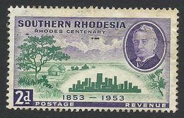 Southern Rhodesia, 2 P. 1953, Sc # 76, Used. - Rhodésie Du Sud (...-1964)