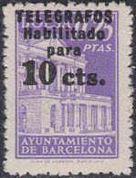 1942. ** Edifil: AYUNTAMIENTO DE BARCELONA-TELEGRAFOS 17. - Barcelona