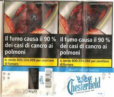 CHESTERFIELD BLU TABACCO PER SIGARETTA ITALY  SIGARETTE - Boites à Tabac Vides