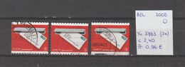 België 2008 - Yv. 3763 (3x) - OCB 3781/a/b Gest./obl./used - Belgium