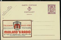 Publibel Neuve N° 628 ( Midland's Radio - Bruxelles - Etbs Brausch Frères) - Entiers Postaux