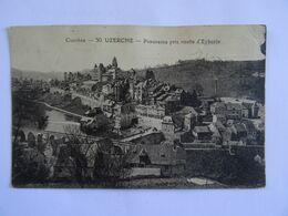 CPA  19 UZERCHE Panorama Pris Route D'Eyburie   TBE - Uzerche