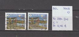 België 2008 - Yv. 3774 (2x) - OCB 3792/a Gest./obl./used - Belgium