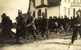 CAMP MÜNSTER LAGER - Convoi De Prisonniers BELGES  Carte Photo KRIEGSGEFANGENEN 1914/15 WWI WWICOLLECTION - Oorlog 1914-18