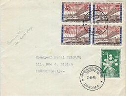 -EXPO 1958,Bruxelles 2 Beaux Cachets,Bruxelles-Brussels,Telexpo 58,Le 2/6/58- Expédié à Bruxelles - 1958 – Brüssel (Belgien)