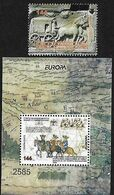 "MACEDONIA /NORTH MACEDONIA /MAKEDONIEN /MAKEDONIA  - EUROPA 2020 - ""ANCIENT POSTAL ROUTES"" -SERIE -N + HOJITA BLOQUE - Europa-CEPT"
