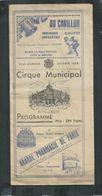 Programme 1938 Du Cirque Municipal D'Amiens (Somme) 30 Pages Dont Pub Brasserie Delaporte, Citroën - Programme