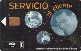 TARJETA TELEFONICA DE ESPAÑA USADA. 02.99 - TIRADA 32000 (472). SERVICIO AL CLIENTE. - Spagna