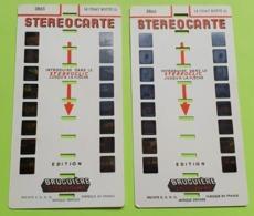2 STÉRÉOCARTES - Vues En  RELIEF Et En COULEUR Pour Boitier Lumineux Stéréoscopique - Le Chat Botté - 1963 - Other Collections