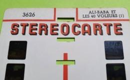4 STÉRÉOCARTES - Vues En  RELIEF Et En COULEUR Pour Boitier Lumineux Stéréoscopique - Ali Baba Et Les 40 Voleurs - 1963 - Other Collections