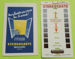 2 STÉRÉOCARTES - Vues En  RELIEF Et En COULEUR Pour Boitier Lumineux Stéréoscopique - Le Petit Chaperon Rouge - 1963 - Other Collections