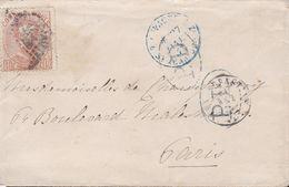 1825-CARTA-Edifil: 125. AMADEO I. SAN SEBASTIAN A PARIS - 1872-73 Königreich: Amédée I.