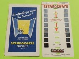 1 STÉRÉOCARTE - Vues En  RELIEF Et En COULEUR Pour Boitier Lumineux Stéréoscopique - L'école Des Animaux Savants - 1963 - Other
