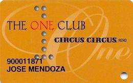 CIRCUS CIRCUS RENO One Club Slot Card - P662654 Over Mag Stripe - Carte Di Casinò