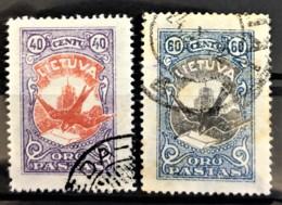 LITHUANIA 1926 - Canceled - Sc# C38, C39 - Lithuania