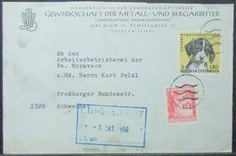 Austria - Advertising Cover 1966 Dog - 1961-70 Briefe U. Dokumente