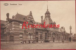 Turnhout Statie Station La Gare Geanimeerd ZELDZAAM Antwerpse Kempen (In Zeer Goede Staat) - Turnhout