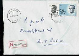 Doc. De WAIMES - C - ( 4950 ) Du 04/02/92 En Rec. ( E ) - Marcophilie