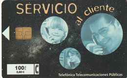 TARJETA TELEFONICA DE ESPAÑA. USADA. 10.99 - TIRADA 31000 (478). SERVICIO AL CLIENTE. - Spagna