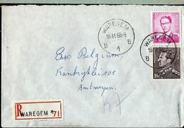 Doc. De WAREGEM - B 1 B - Du 18/11/68  En Rec.  ( E) - Marcophilie