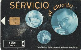 TARJETA TELEFONICA DE ESPAÑA. USADA. 02.01 - TIRADA 53000 (481). SERVICIO AL CLIENTE. - Spagna