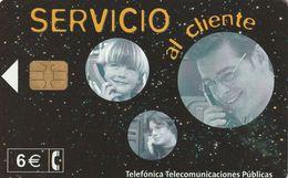 TARJETA TELEFONICA DE ESPAÑA. USADA. 05.02 - TIRADA 21000 (469). SERVICIO AL CLIENTE. - Spagna