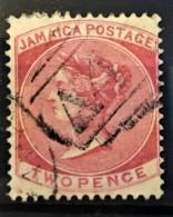 JAMAICA 1870/71 - Canceled - Sc# 8 - 2d - Jamaïque (...-1961)