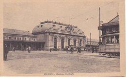 Cartolina - Milano, Stazione. - Milano (Milan)