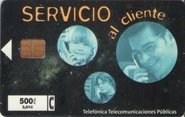 TARJETA TELEFONICA DE ESPAÑA USADA. 10.99 - TIRADA 41000 (475). SERVICIO AL CLIENTE. - Spagna