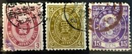 JAPAN 1888/92 - Canceled - Sc# 76, 77, 80 - Japan